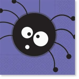 Scaredy Cat Spider Napkins - click to enlarge