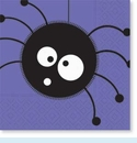 Scaredy Cat Spider Napkins