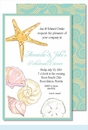 Sea Shells Large Flat Invitation