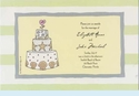 Seashell Cake Invitation