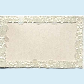 Sequin & Bead Border Placecards - click to enlarge