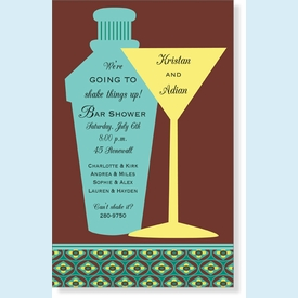 Shake Things Up Martini Invitation - click to enlarge