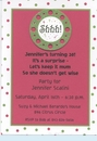 Shhh!...Fuschia with Dots Invitation