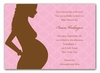 Silhouette with Curls Invitation - Pink