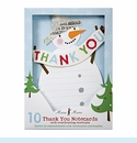 Snowman With Paper Hat Thank You Notes