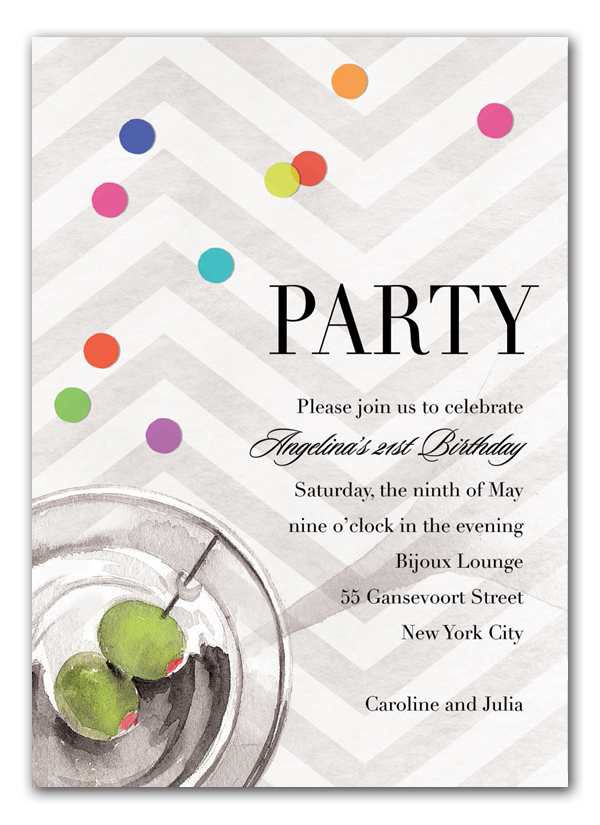 sophisticated soiree invitation cocktail party