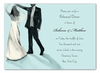 Sparkled Dancing Couple Invitation