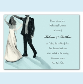 Sparkled Dancing Couple Invitation - click to enlarge