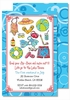 Splish Splash Large Flat Invitation
