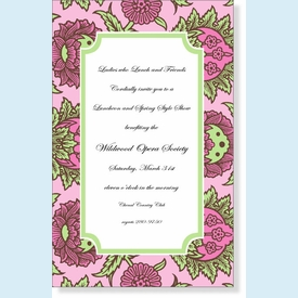 Spumoni Floral Frame Invitation - click to enlarge