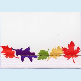 Stitched Fall Leaves Invitation - click to enlarge