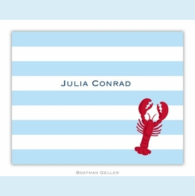 Stripe Lobster Folded Notes (set/25) - click to enlarge