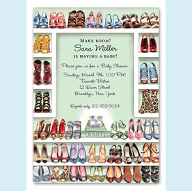 Stylish Shoe Closet Invitation (Neutral) - click to enlarge