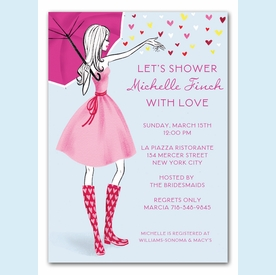 Stylish Shower Invitation - click to enlarge