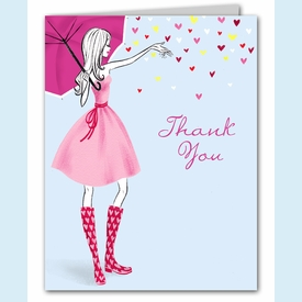 Stylish Shower Thank You Notes - click to enlarge