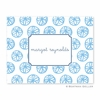 Summer Light Blue Folded Notes (set/25)