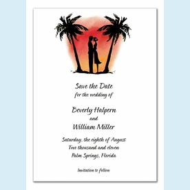 Sunset Sweethearts Invitation - click to enlarge