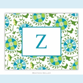 Suzani Teal Folded Notes (set/25) - click to enlarge