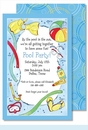 Swimming Pool Large Flat Invitation