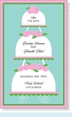Tiered Marzipan Cakes Invitation