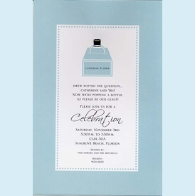 Tiffany Box with Rhinestone Invitation - click to enlarge