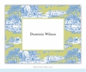 Toile Blue & Green Folded Notes (set/25)