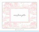 Toile Pink Folded Notes (set/25)