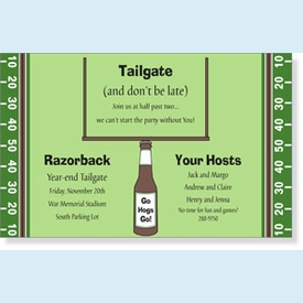 Touchdown! Football Tailgate Invitation - click to enlarge
