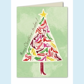 Trendy Tree Holiday Card - click to enlarge