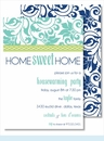 Turquoise Floral w/Lime Rope Medium Flat Cards