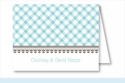 Turquoise Gingham Note Cards