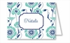 Turquoise/Navy Morning Glory Note Cards