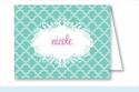 Turquoise Scallop Note Cards