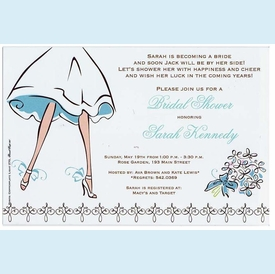 Walking Bride Invitation - click to enlarge