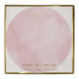 Ombre Round Thank You Notes - click to enlarge