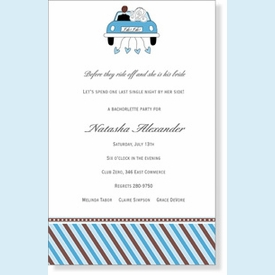 Wedding Getaway Invitation - click to enlarge