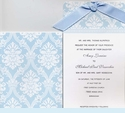 Wedgwood Damask Social Sleeve Invitation