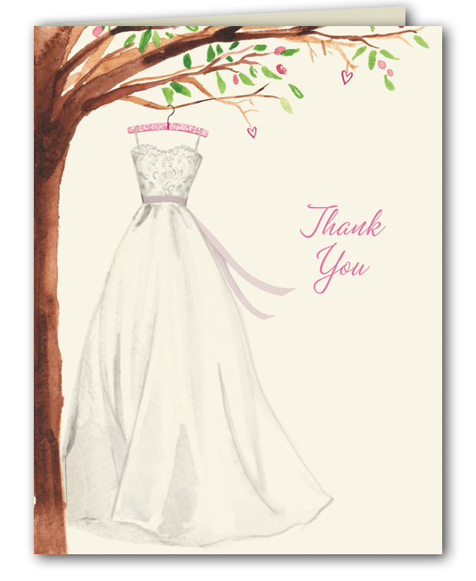 Wedding Dress With Note : Wedding dress thank you notes bonnie marcus