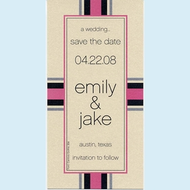 Wrapped Pink Invitation - click to enlarge