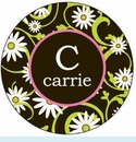 Yellow/Black Daisy Personalized Magnet