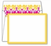 Yellow Border Small Flat Cards w/Coordinating Liner