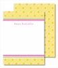 Yellow Diamond w/Hot Pink Braid Small Flat Cards