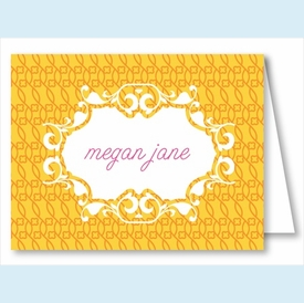 Yellow/Orange Floral Mesh Note Cards - click to enlarge