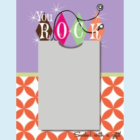 You ROCK! Gift Card Mailer - click to enlarge