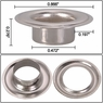 """1/2"""" #4 Nickel Grommets and Washers 1000 Package"""