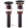 """1 5/8"""" Bath Pop-Up Drain with Overflow Oil Rubbed Bronze"""