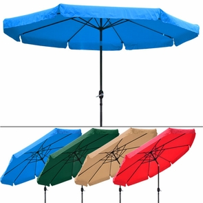 10 Foot Tilt Outdoor Patio Umbrella Furniture Multiple Color Options