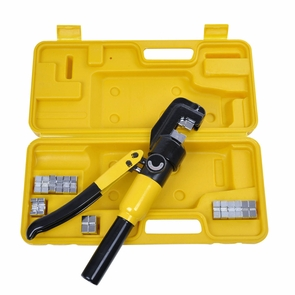 10 Ton 9 Dies Hydraulic Wire Terminal Battery Cable Crimper