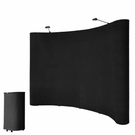 10'x8' Portable Trade Show Display Booth Pop Up Black w/ Case