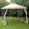 10x10 ft Gazebo Top Replacement with Netting Beige